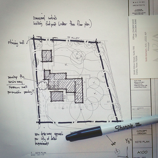 Architectural Sketch Site Plan Line Weight