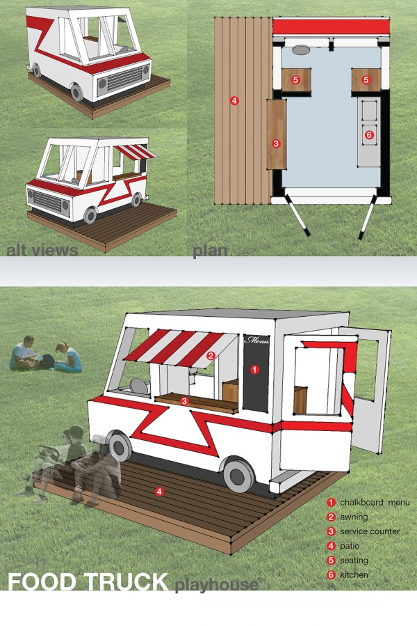 Patrick Ladendecker: Food Truck playhouse