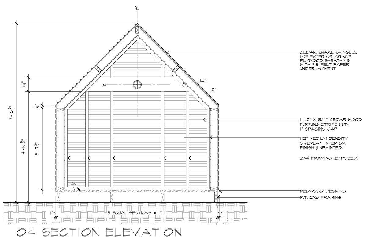 Lantern Playhouse 04 Section Elevation