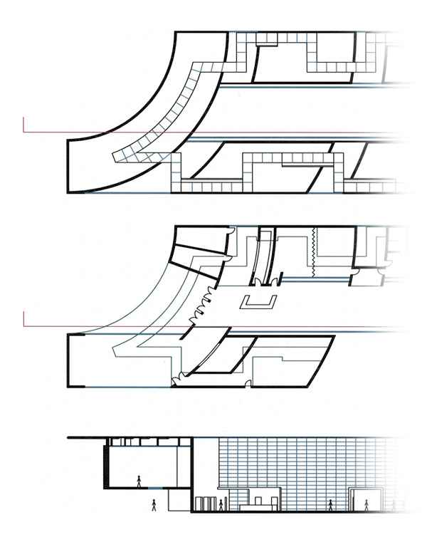 Art Museum Architectural Plans Section