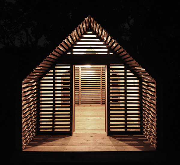 Lantern Playhouse Complete front elevation at night