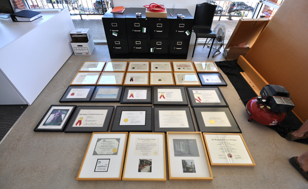 Certificates for the Glory Wall
