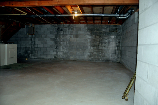 scary basement with ghosts