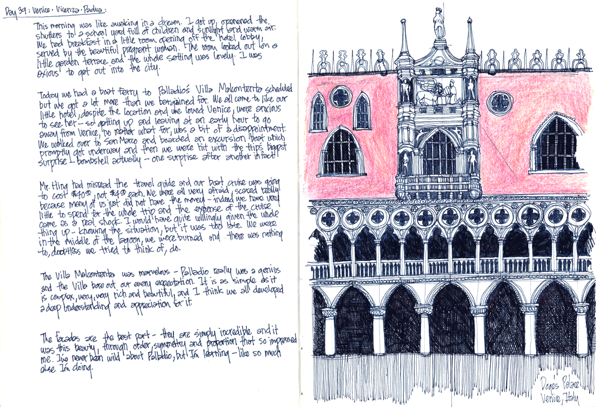 Doge's Palace with Diary - by Michael Malone