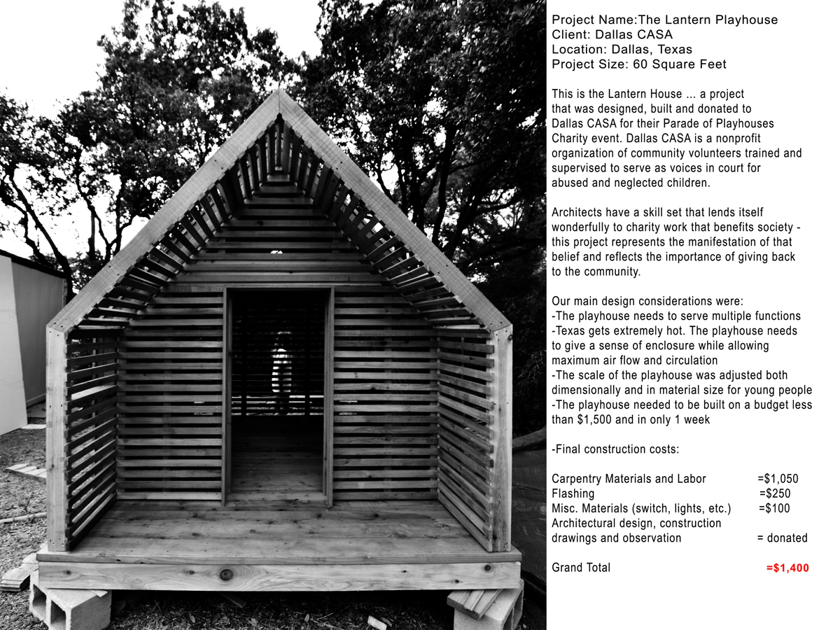 Lantern Playhouse 01 Project Information