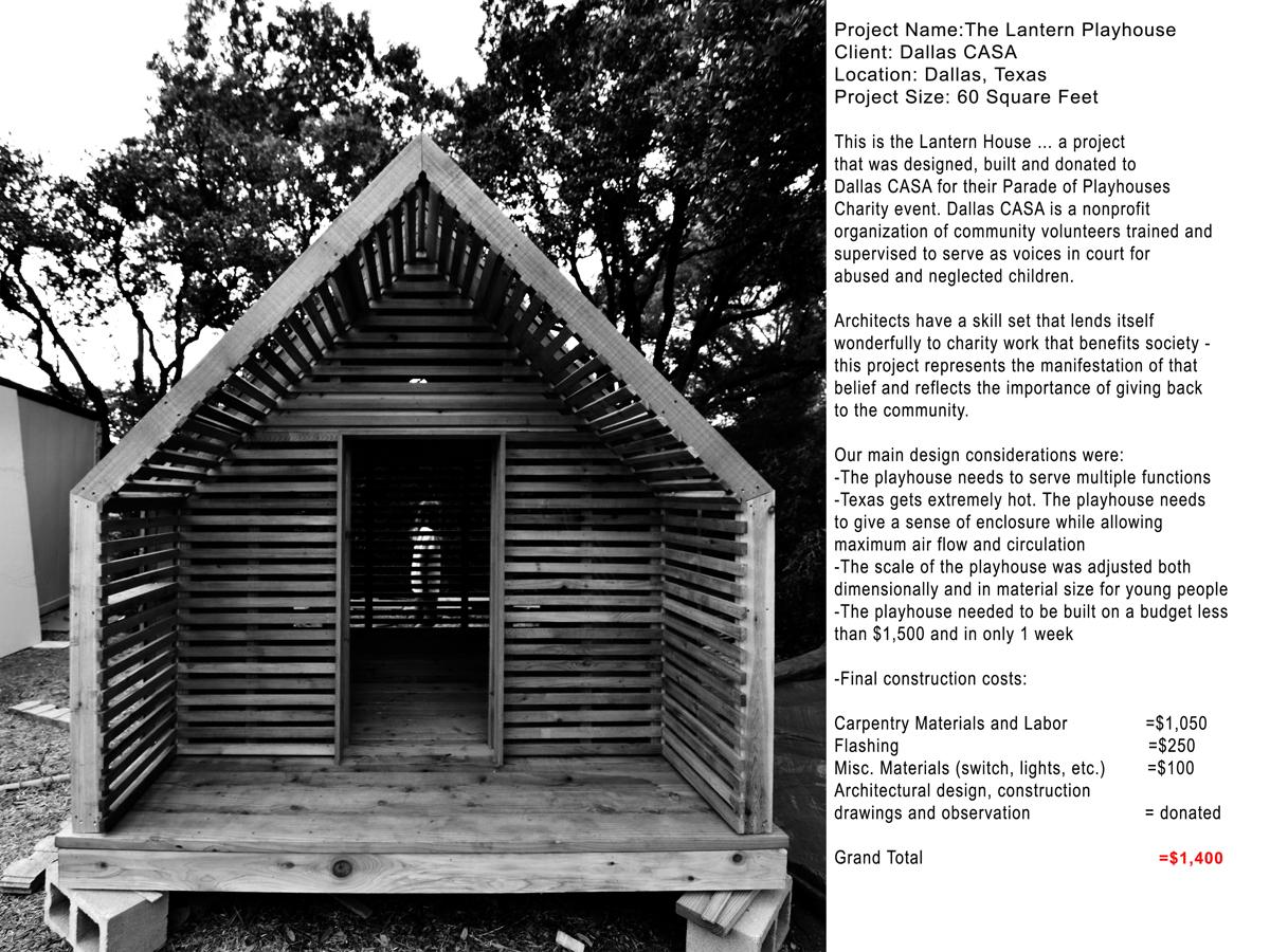 Lantern Playhouse 01 Project Information