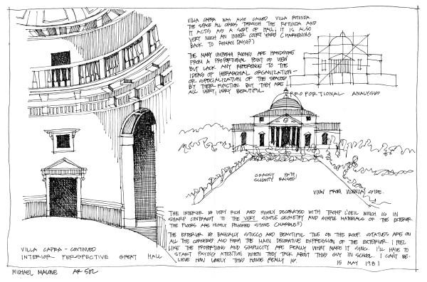 Villa Capri - sketch by Michael Malone