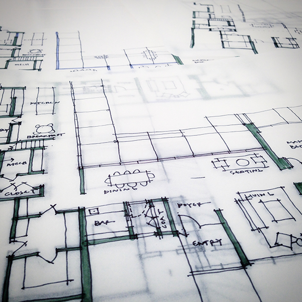 Bob Borson Residence - schematic design sketches