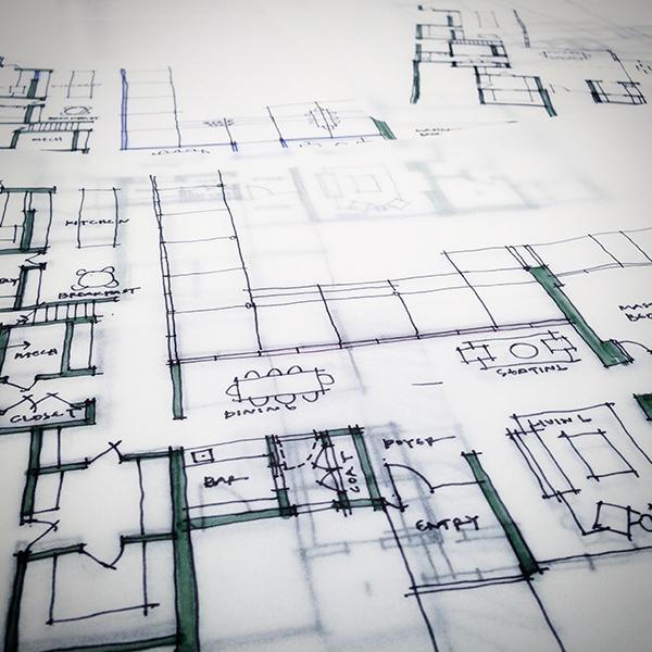 Bob Borson Residence - schematic design sketches