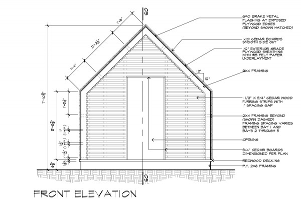 Lantern House Front Elevation