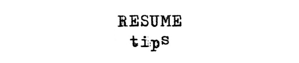 Resume Tips from Life of an Architect