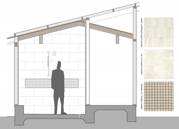 LoaA Master Bathroom North Elevation scale figure