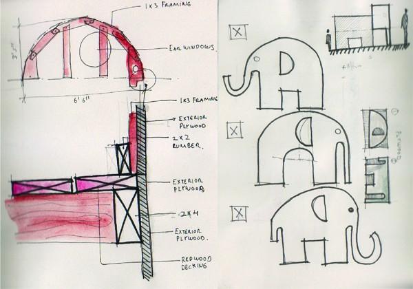Andres Moreno Ellie the Elephant Design Sketches