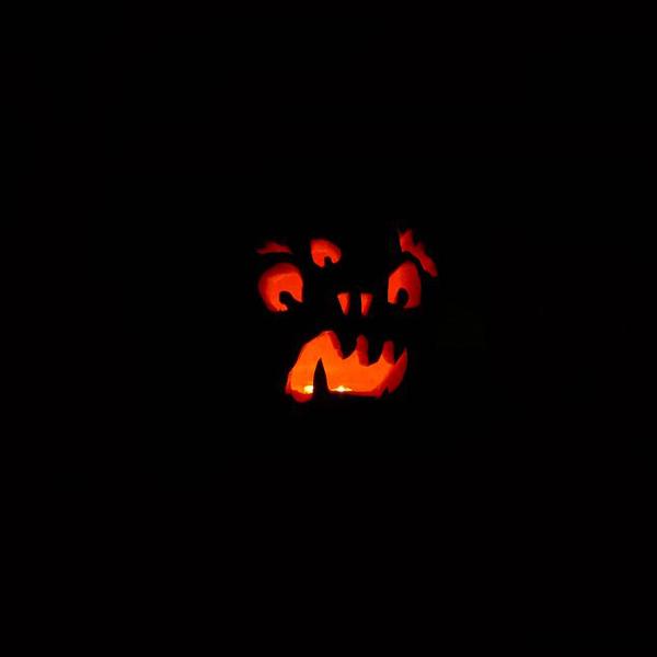 Pumpkin carved by Jared Banks