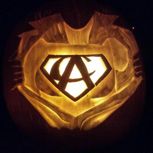 Pumpkin carved by Lora Teagarden