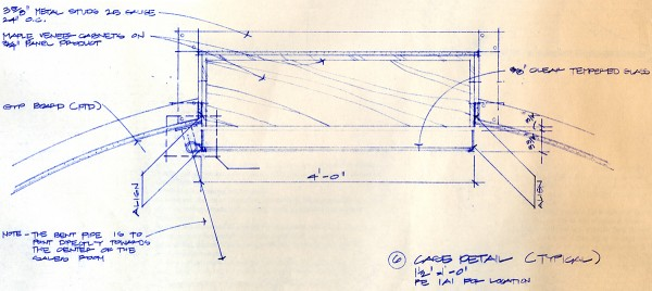 Bob Borson - Occhiali Steel Case Plan Section