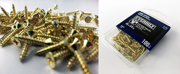 Brass screws for LoaA Playhouse Trophies