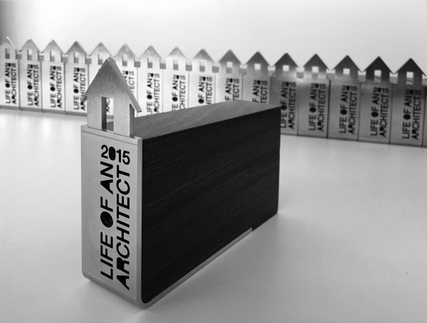 Final Life of an Architect Playhouse Competition Trophy Black and White