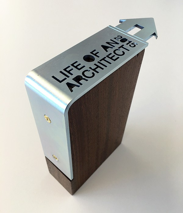 Final Assembled Life of an Architect Playhouse Competition Trophy