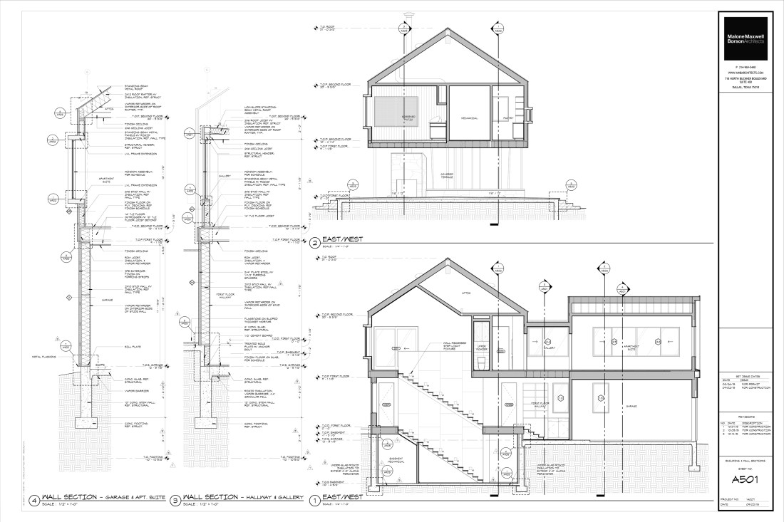 Modern House Drawings Bob Borson A501