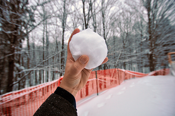 Architect throwing a snowball color