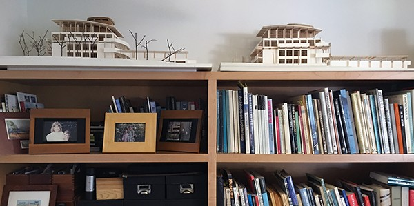 Architectural Models up high on a shelf