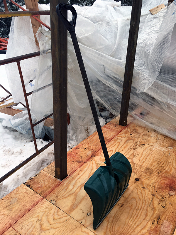 Snow Shovel the most important tool on the job site