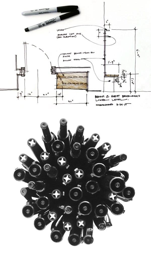 Sketch Pens by Dallas Architect Bob Borson