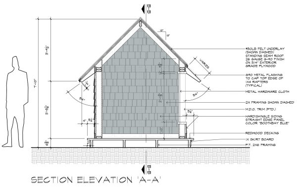 Cottage Playhouse Section AA by Dallas Architect Bob Borson