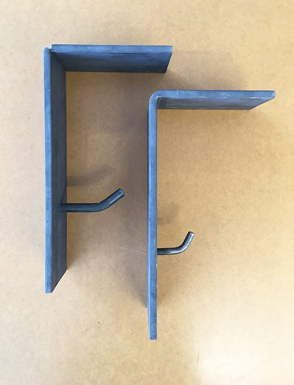 Metal shelves and Coat Hooks