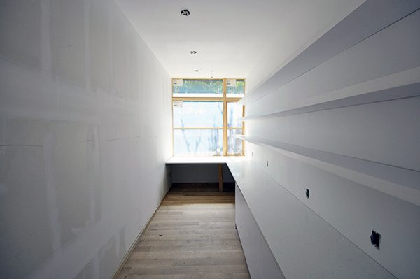 Floating Shelves look into room