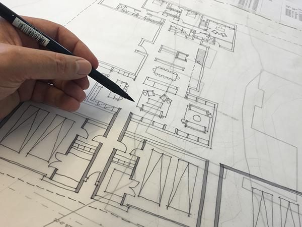 Perfect Bob Borson sketching a Floor Plan