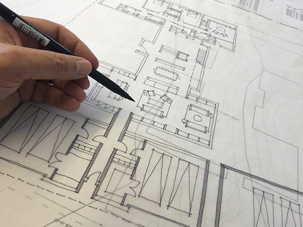 Bob Borson sketching a Floor Plan
