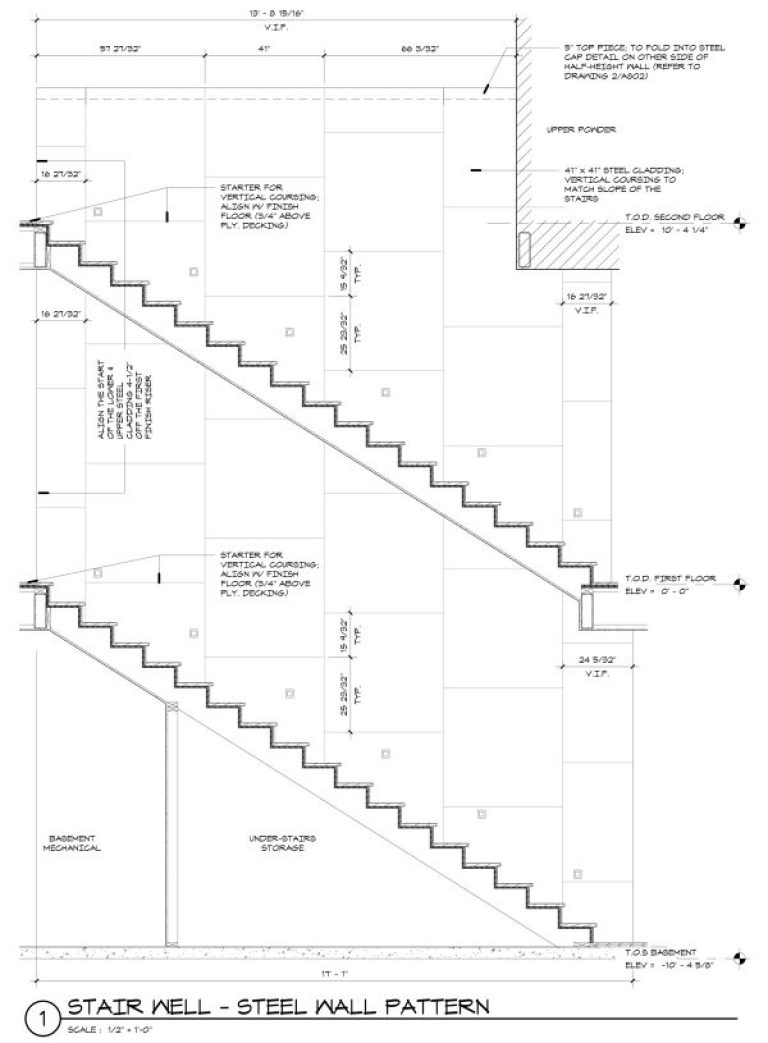 Steel Paneling - Construction Drawing