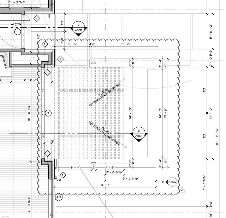 Bob Borson - construction drawing front porch floor plan