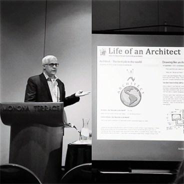Dallas Architect Bob Borson presenting