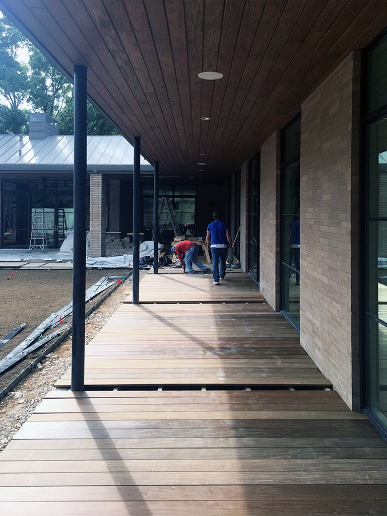 Installing the Ipe wood - Not Your Typical Modern Wood Deck