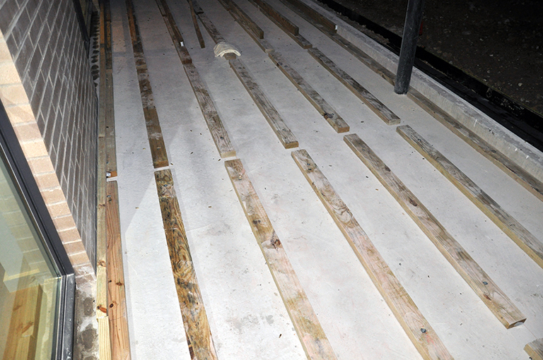 Pressure Treated lumber for decking gaps for drainage