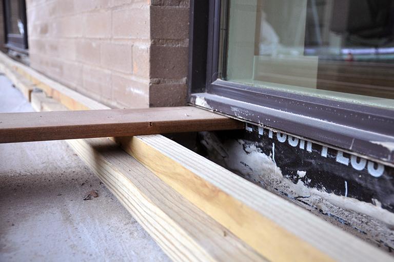 Wood Decking flush under exterior windows 01