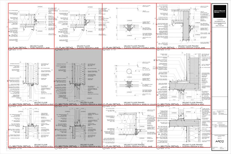 Architectural Graphics 101 - Detail Sheet layout by Dallas Architect Bob Borson
