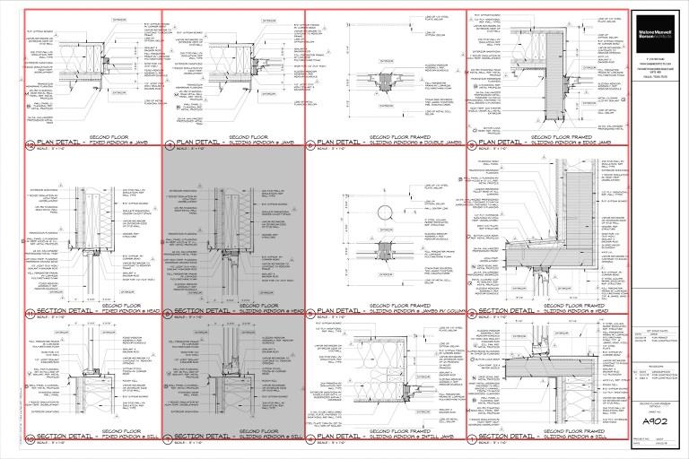 Architectural Graphics 101 - Detail Sheet layout by Dallas Architect Bob Borson