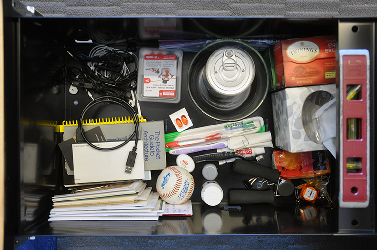 Bob Borson's junk drawer - plan view