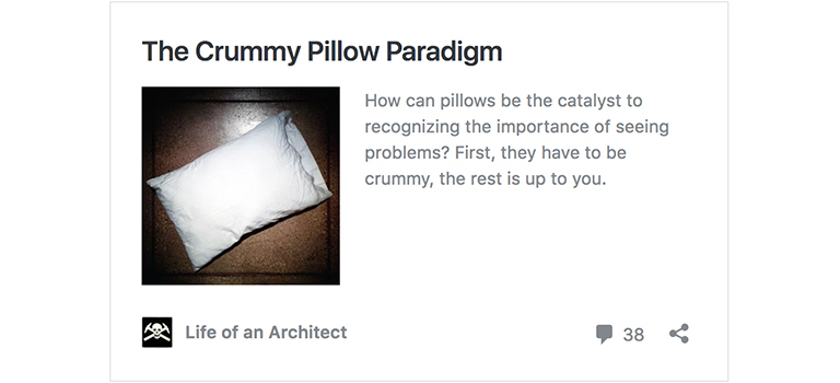The Crummy Pillow Paradigm