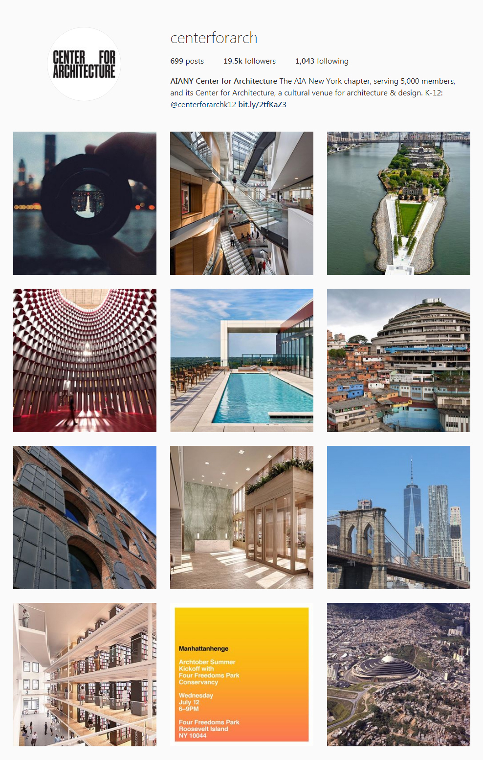 Best Architectural Instagram Feeds of 2017 - AIANY Center for Architecture