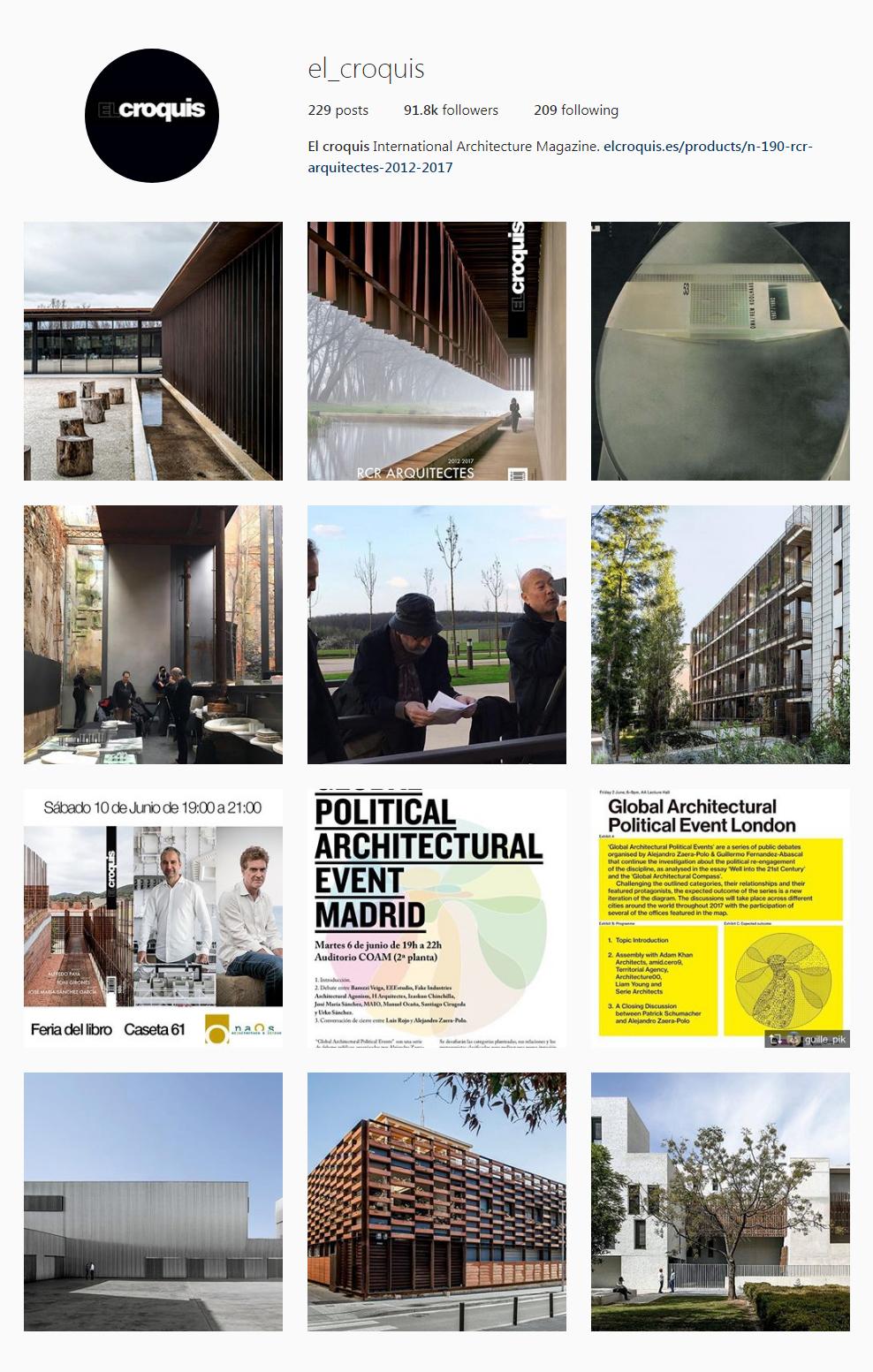 Best Architectural Instagram Feeds of 2017 - el_croquis