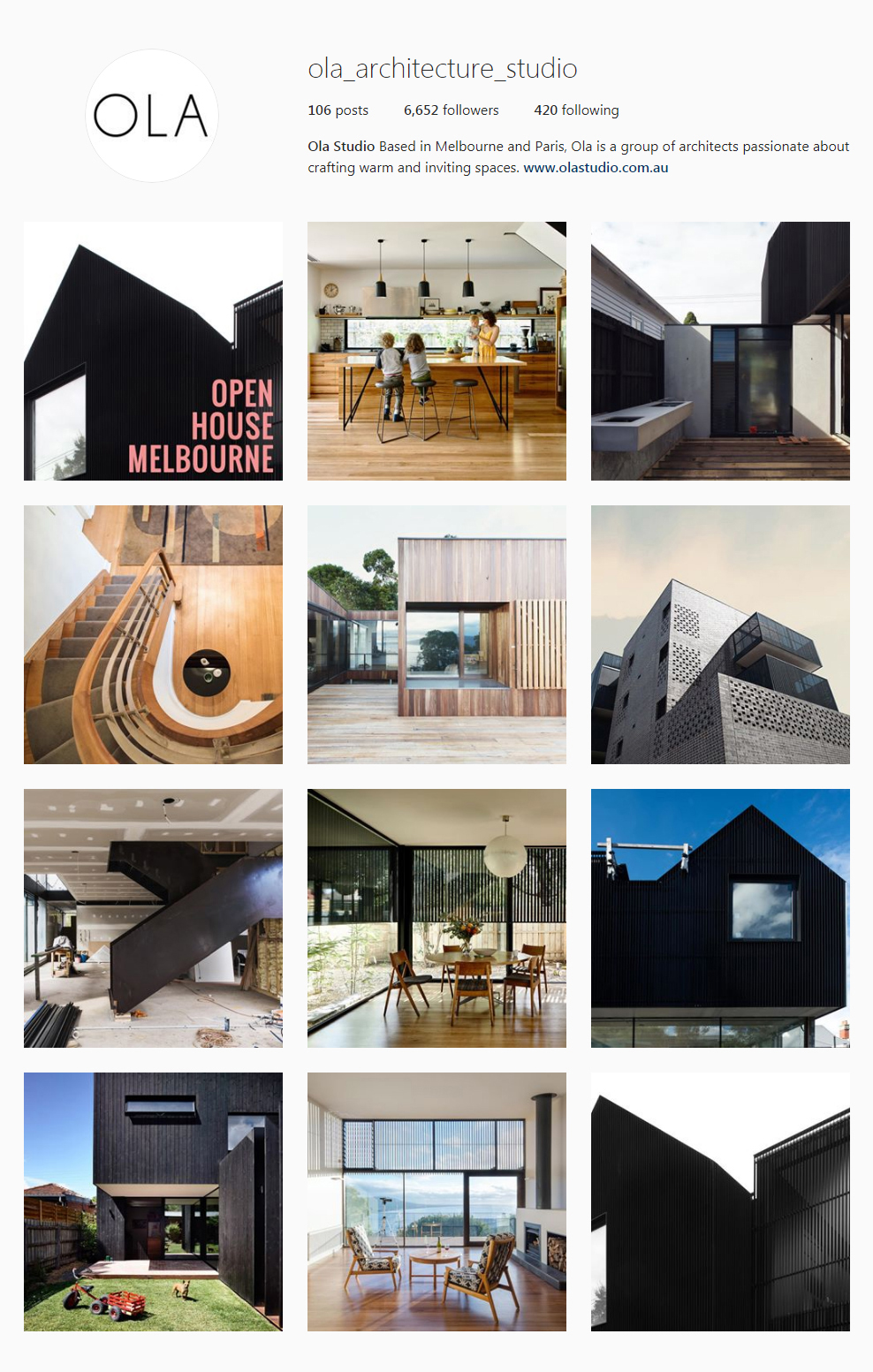 The best architectural instagram feeds 2017 crane designs for Style at home instagram