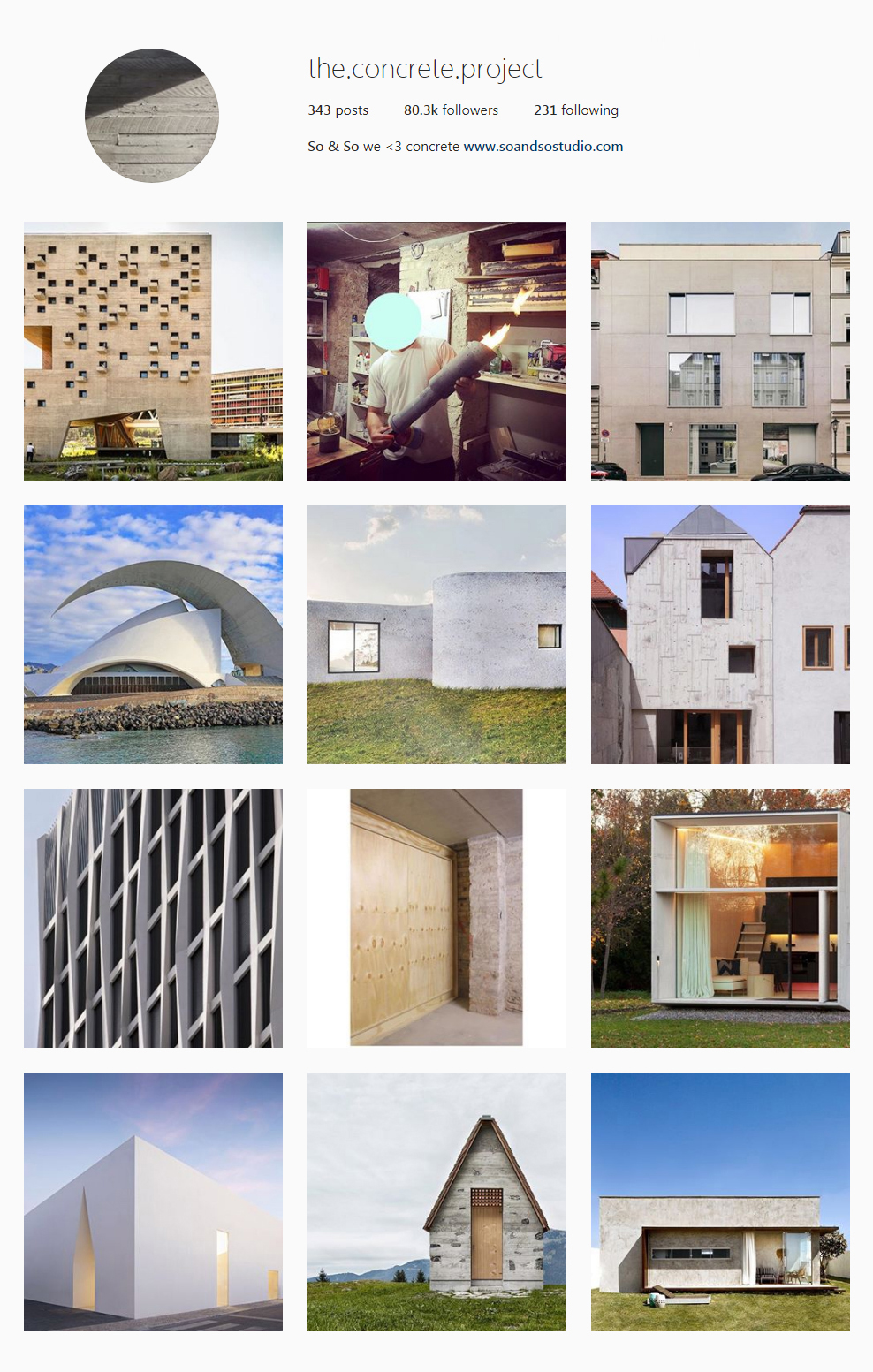 Best Architectural Instagram Feeds of 2017 - the concrete project