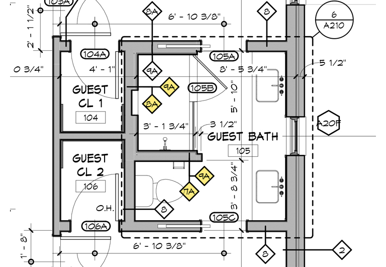 Architectural Graphics 101 Wall Types shown in Plan (old style)
