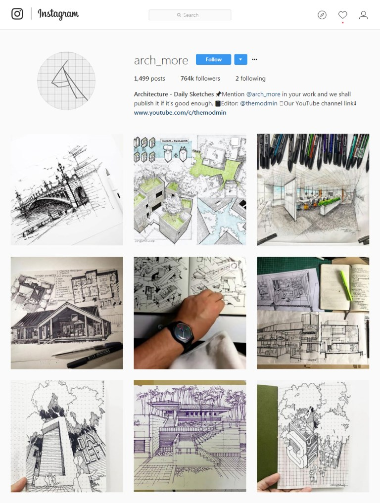 arch_more Instagram - Sketching