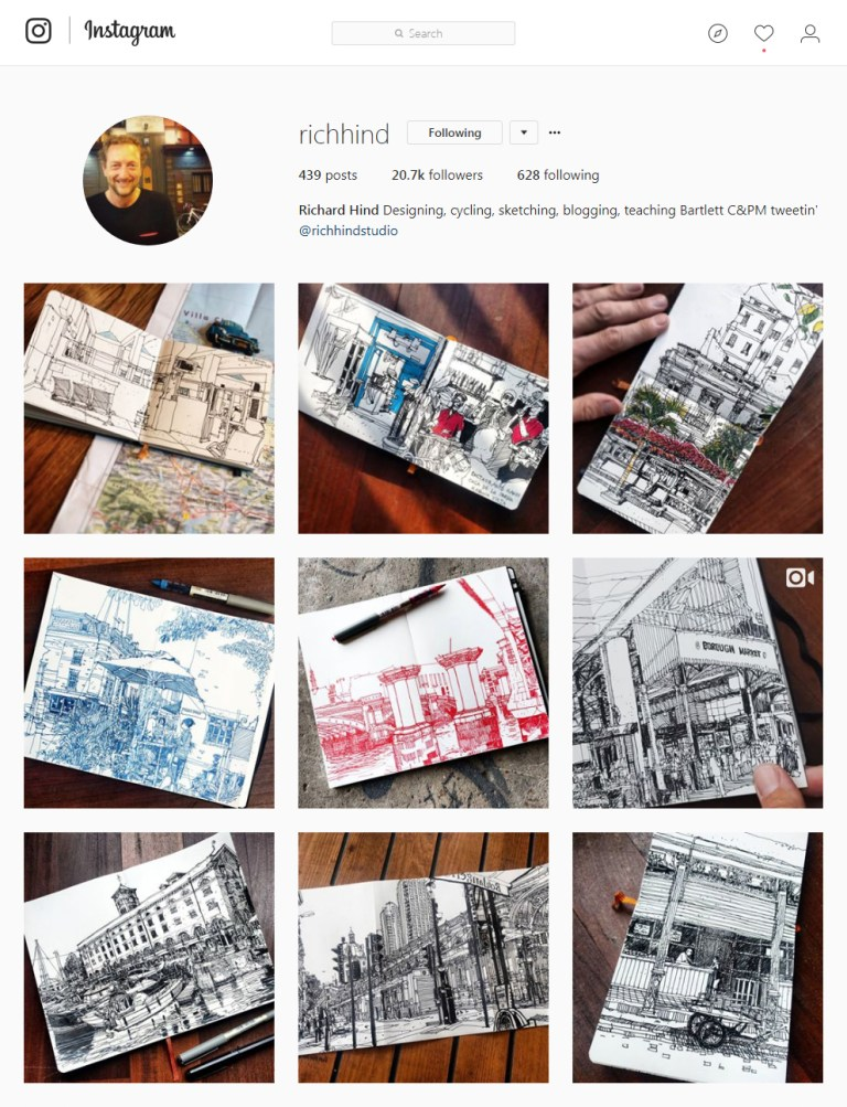 richhind Instagram - Sketching